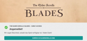 The Elder Scrolls: Blades Early Access Anmeldung